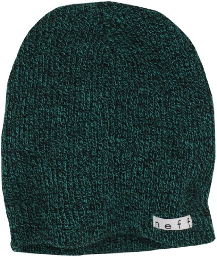 Neff, Cappello Daily Heather, Nero (Black/Green), Taglia unica