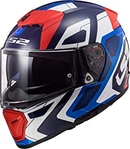 LS2 103902726XXS FF390 Breaker Android Motorcycle Helmet XXS Blue Red