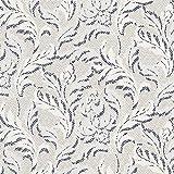 Fabulous Fabrics Baumwollstretch Blumen - wollweiss -
