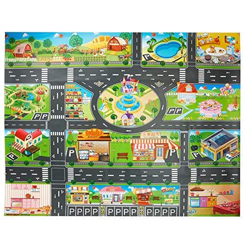 Alfombra de juguete, PVC Road Playmat juguete, alfombra de plástico para niños,...