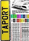 Taport® 50pz Custom TXT etichetta nero auto registrazione di supporto per auto, furgoni, camion, rimorchio