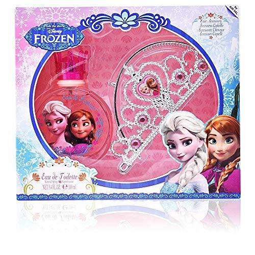 Air Val Disney Frozen Die Eiskönigin Geschenk-Set, 1er Pack (Eau de Toilette Spray 100 ml, Haarreifen Diadem (Krone, Tiara)) -