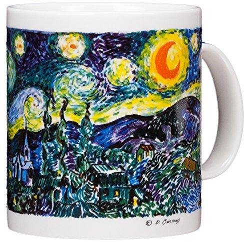 Vincent Van Gogh - Notte Stellata - tazza per caffè da 400 (Grande Cina Tazza Di Caffè)