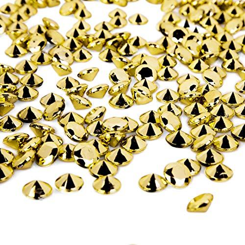 Koyal Großhandel 1,7 kg Kunstdiamant Vase Füller Party Konfetti DIY Deko Projekte Tischstreu Gold (Gold Vase Filler)