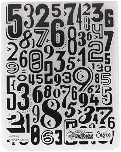 Sizzix TFEF-Numerik von Tim Holtz, Plastic, Multicolor 17.5 x 12.4 x 0.5 cm