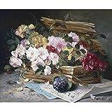 """Cesta de flores de Niza, eugene-henri Cauchois, Papel artístico satinado de 255 g/m², Image size: 306mm x 362mm (12"""" x 14.25"""")"""