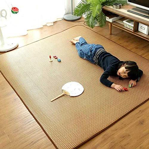 WL Japanisches Rattan Tatami Floor Matratze,klappbares Sommerschlafpolster Atmungsaktive Cool Matratze Junge Es Gril Rutschfeste Krabbelmatte Teppich In Innenräumen Für Zuhause-a 180x200cm(71x79inch)
