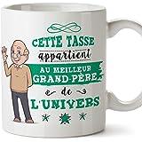 Mugffins Papi Tasse/Mug - Cette Tasse Appartient au Meilleur Grand-Père de l'univers - Tasse Originale/Idee Fête des Pères/Ca