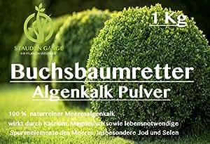 Stauden Gänge Algenkalk Pulver 1kg im Eimer/Buchsbaumretter/Das Original/mit ANLEITUNG