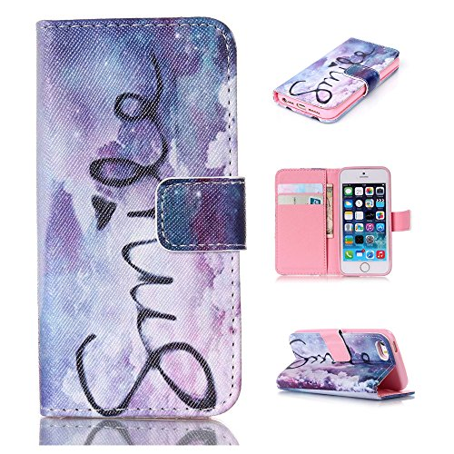 Nutbro iPhone 5C Wallet Case, iPhone 5C Case, PU Leather Flip Folio Book Style Wallet [Stand Feature] with Built-in Credit Card Slots Wallet Case for Apple iPhone 5C Verizon 71