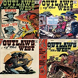 Outlaws of the West. Issues 11, 12, 13 and 14. Billy the kid, red ...