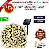 #6: IFITech Solar String Lights 72ft 200 LED Fairy Lights, Ambiance lights for Outdoor, Patio, Lawn,Garden, Home, Diwali, EID, Wedding, Holiday, Christmas Party, Xmas Tree decoration,waterproof/Timer/USB Charge (Warm White)