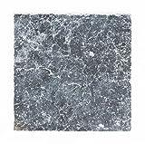 Fliesen Mosaik 1 Karton 5St Marmor Boden Bad Küche WC Schwarz matt NEU 10mm #826