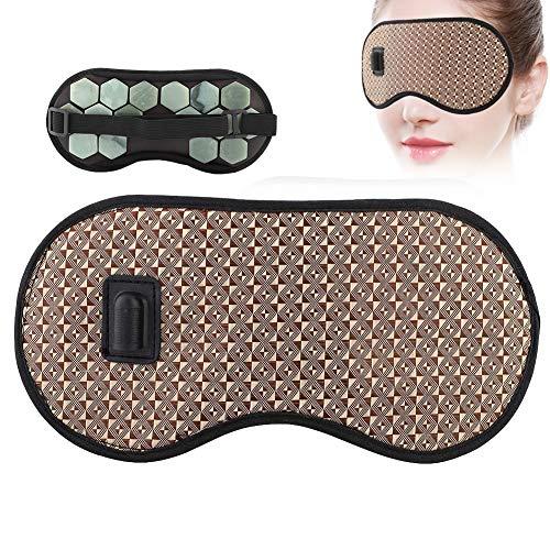 Augenmaske, beheizter Jade-Stein Germanium-Augenmasken-Magnet Gesundheitspflege-Augenschutz für das Reisen mit geschwollenen Augen(EU PLUG-Jade Stone)