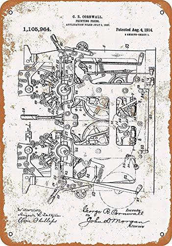 Wise Degree Metal Poster Pring Press Patent Metall Poster Wand Küche Kunst Cafe Garage Shop Bar Dekoration - Patent-metall