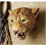 """10"""" African Wildlife Leopard Wall Sculpture Statue D?cor by XoticBrands"""