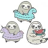 3pcs Carino Smalto Perni del Risvolto Imposta Cartoon Animali Sloth Spille Spille per Abbigliamento Borse Zaini Hat Giacche F