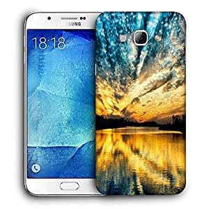 Snoogg Desktop Nature Printed Protective Phone Back Case Cover For Samsung Galaxy A8
