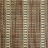 ZEMIN Bambusrollo Jalousette Venezianisch Schattierung Innen-/Außeninstallation Anpassbar Aromatisch Handhebend, 3 Farben Verfügbar, Bambus (Farbe : B, Größe : 60x200CM)