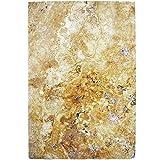 Natursteinfliesen Travertin Castello Gold 40,6x61cm   Wandverkleidung Badfliesen Bad Mosaikstein