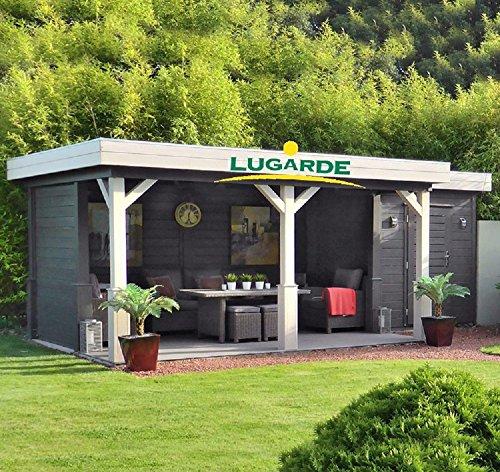 *Lugarde Gartenhaus Jake aus Fichtenholz NEU mit angrenzender Gartenlaube*