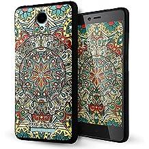 Xiaomi Redmi Note 2 Funda,Lizimandu 3D Patrón Protectiva Carcasa de Silicona Gel TPU estrecha Case Cover Para redmi note 2(Mystic compass)
