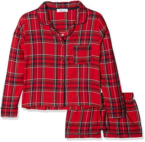 5 Stay Up Flannel Pj Short S Zweiteiliger Schlafanzug, Rot (Red Pattern 69), Medium ()