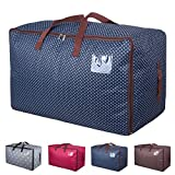 DOKEHOM DKA1011BL 100L Large Storage Bag, Fabric Clothes Bag, Thick Ultra Size Under Bed Storage, Moisture proof (Blue)