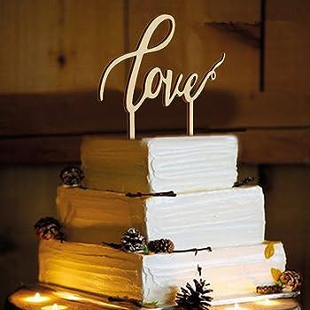 Rosenice Love Hochzeitstorte Topper Fur Hochzeitsdekorationen Holz