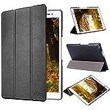 tinxi® PU artificial piel Funda para Asus Zenpad 8.0 Z380C / Z380KL / Z380M 8 pulgadas Tablet (20,32 cm) protectora Cover Tablet Notebook Case con el negro fondo