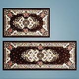 jimaofei Küchenmatte Langstreifen Anti-Öl und Öl absorbierende Teppichmatte, 165 Kaffee_50 * 180cm
