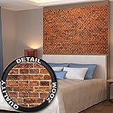 GREAT ART Rote Backsteinmauer Wanddekoration - Wandbild Steinmauer Motiv XXL Poster (140 x 100 cm)