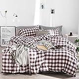 Kexinfan Bettbezug Washed Baumwolle Vierteilig Baumwolle Plaid Bett Windbett Einfache Baumwollbettwäsche, Bettwäsche, Cynthia, 1,5 M (5 Fuß) Bett