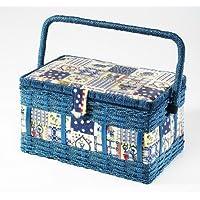 Costurero, cesto de costura, trabajo con cesta de caja de herramientas de mano