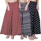 FABLAB Women's Multicolor Palazzo Pants with Inner Pack of 3(Three)