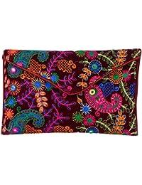 Shubhangi Women's Sling Bag (Jaipuri Embridered Handicraft Traditional Sling Bag,Multi-Coloured, R3 2027 Brown)