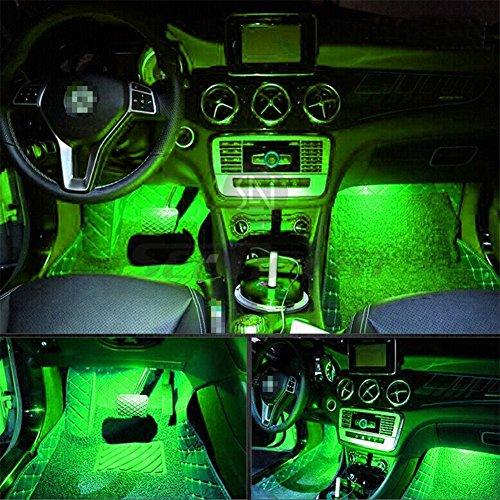4Auto LED Innen 1Beleuchtung Kit w/3M Aufkleber–Licht LED KFZ-Innenraum Auto Innenraum Licht Auto LED-Atmosphäre Beleuchtung–Preis XES (grün)