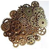 Newin Star 50 Pcs Bronze Steampunk Gears Bricolage Charmes Bijoux Fabrication Accessoires Cogs Artisanat