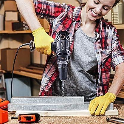 Taladro percutor, TACKLIFE 500W Taladro con embrague de posición, 2 velocidades variables, burbuja horizontal líquida, ideal para taladrar en madera, cerámica, metal y apretar los tornillos – PID04A