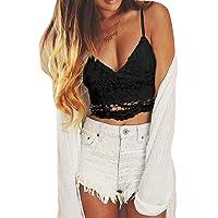 Femmes Crochet Cami Tank Camisole Dentelle Floral Gilet Bralette Blouse Bra Crop Top