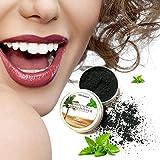 Polvo blanqueador de dientes,Blanqueador Dental de Carbón Activado Blanqueamiento de dientes,Carbón Activado Dientes Polvo de Dientes Contra Mal Aliento,Mancha (2pcs)