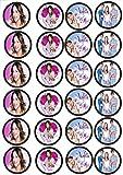 24 Muffin & Cupcake Aufleger Fondant Violetta C2
