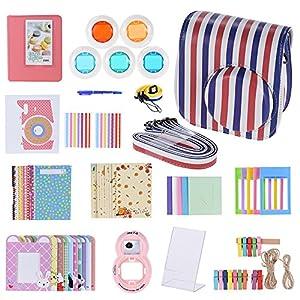Andoer-14-in-1-Zubehr-Kit-fr-Fujifilm-Instax-Mini-88-8s-mit-Kameratasche-Gurt-Aufkleber-Selfie-Objektiv-5-Farbfilter-Album-3-Arten-Filmtisch-Rahmen-10-Wandhnge-Rahmen