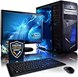 """Vibox Centre Package 10 Gaming PC - with Warthunder Game Bundle, 21.5"""" HD Monitor, Keyboard & Mouse Set (3.7GHz AMD A4 Dual Core Processor, Radeon HD Graphics Chip, 1TB Hard Drive, 8GB RAM, AvP Mamba Blue LED Case, No Operating System)"""