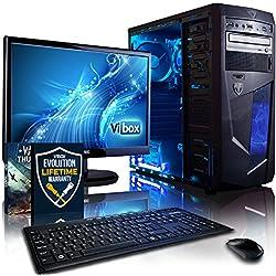 "Vibox - VBX-PC-1528 - Centre Paquet 10 Unité centrale Gaming Ecran Non tactile 21,5""(54,61 cm) Néon Bleu (AMD Athlon 64 fx, 8 Go de RAM, 1 To, AMD Radeon HD 8370D )"