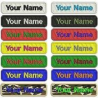 Personalizado Bordado Nombre parche, 2piezas personalizado Militar número etiqueta personalizada logotipo ID para múltiples bolsas de ropa chaleco chaquetas trabajo camisas