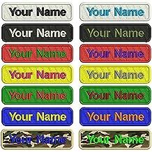 Personalizado Bordado Nombre parche, 2 piezas personalizado Militar número etiqueta personalizada logotipo ID para múltiples
