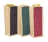 3 pack jute water bottle bag with reinforced - Best Reviews Guide