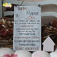 Shabby Style Holzschild - Danke Mama (ICH) Muttertag Weihnachten