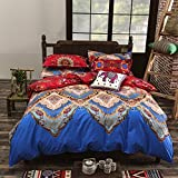 Vaulia Lightweight Polyester Microfiber Duvet Cover Set, Bohemia Exotic Patterns Design - Super King